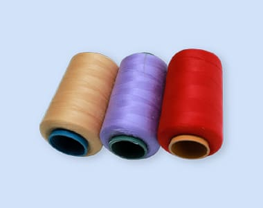 Gold. Violet and Red colored Thread 20S-2/ 40S-2/ 20S-3