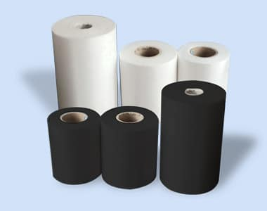 PP Spunbonded – Non Woven 3 white rolls and 3 black rolls