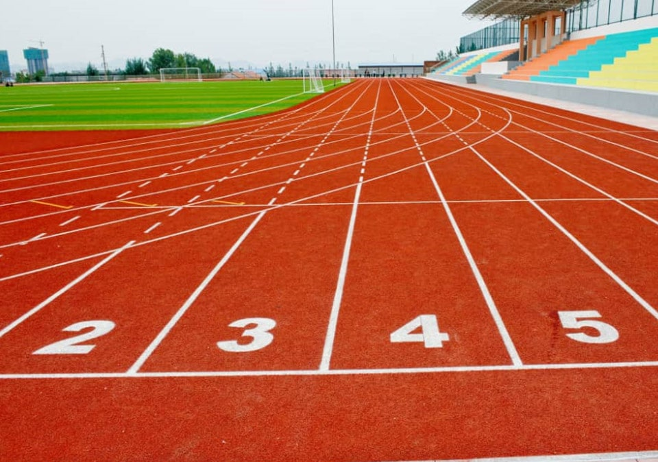 Synthetic track made of Polyurethane Binder